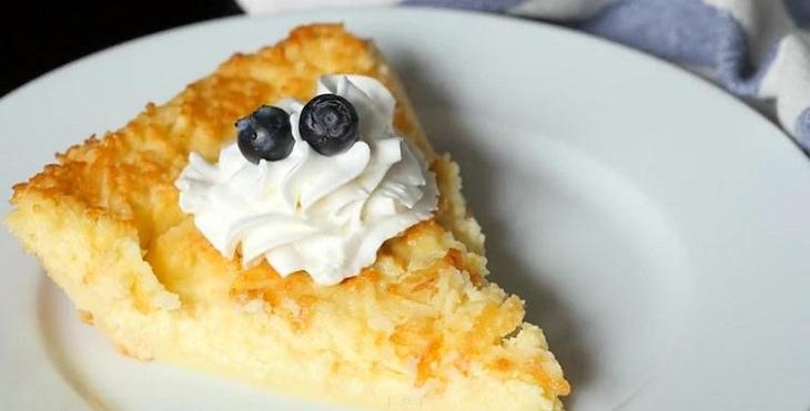 crujiente torta de limón