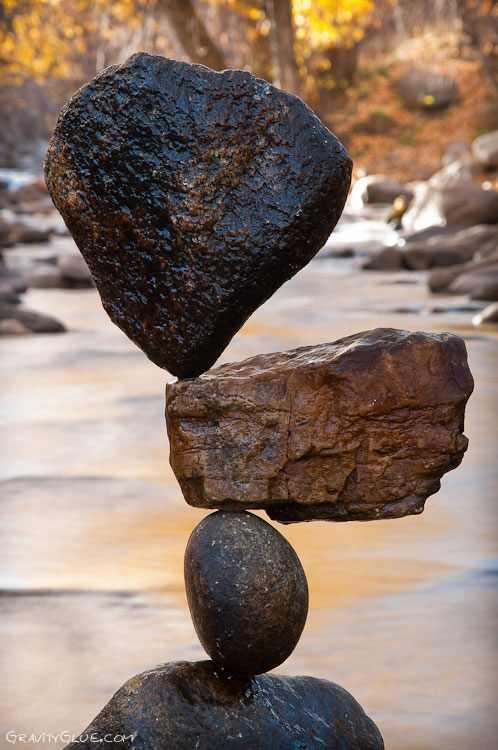 Increibles imágenes del equilibrio materializado