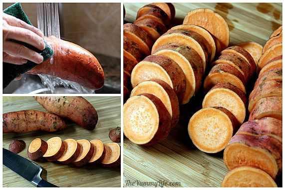 Brochetas de batata
