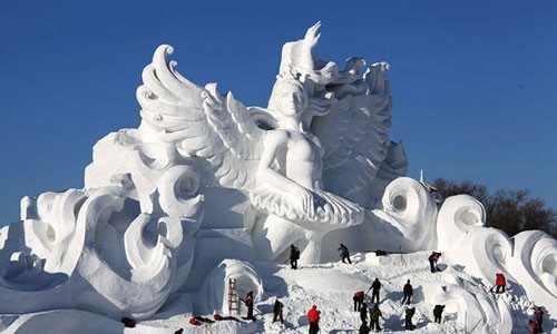 Esculturas en nieve