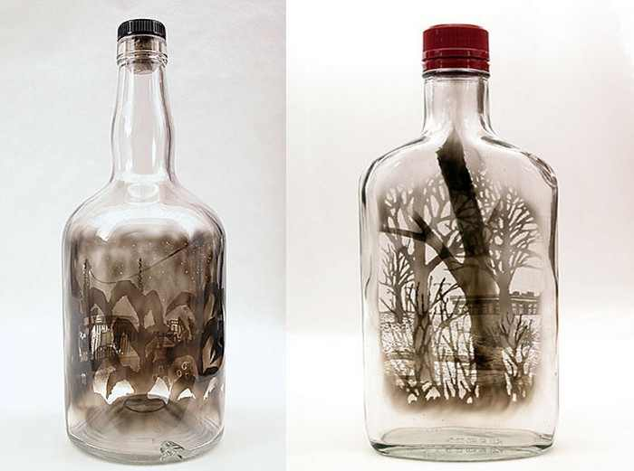 Arte en botellas