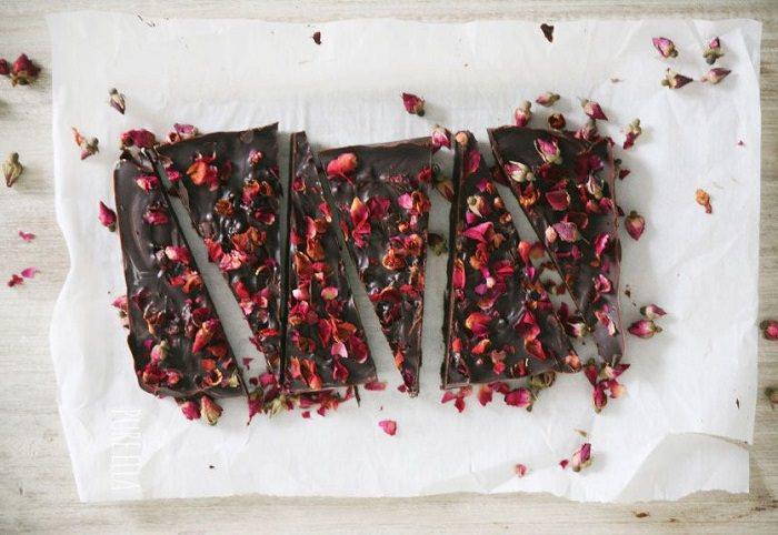recetas petalos de rosa