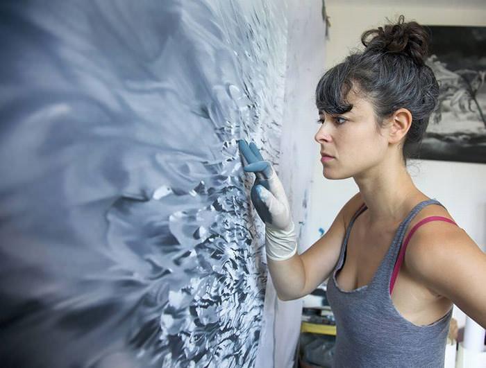 Zaria Forman y Sus Peculiar Arte Hecho Con Los Dedos