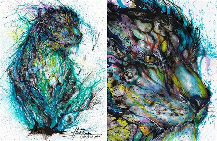 Arte tinta