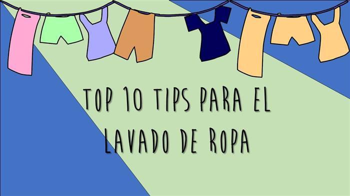 Tips lavado