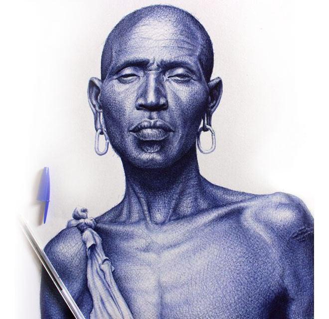 Retratos bolígrafos