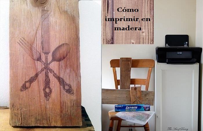 Imprimir en madera