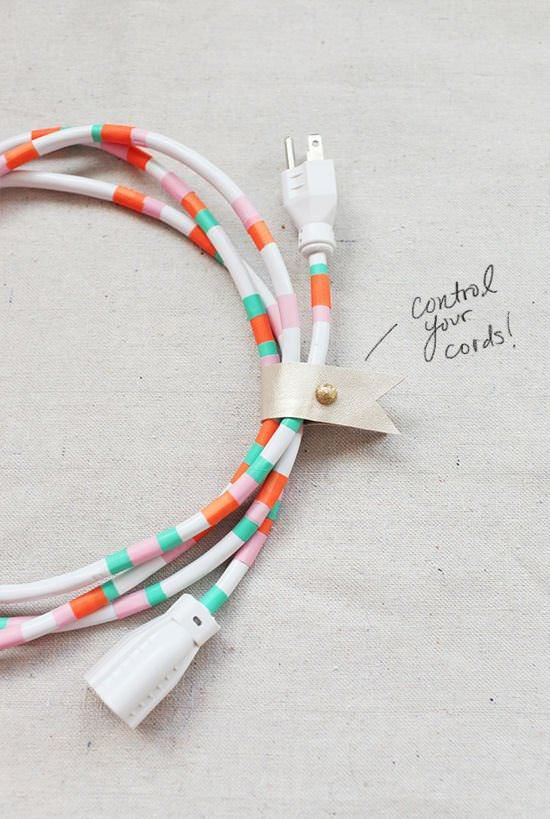 Cables organizados