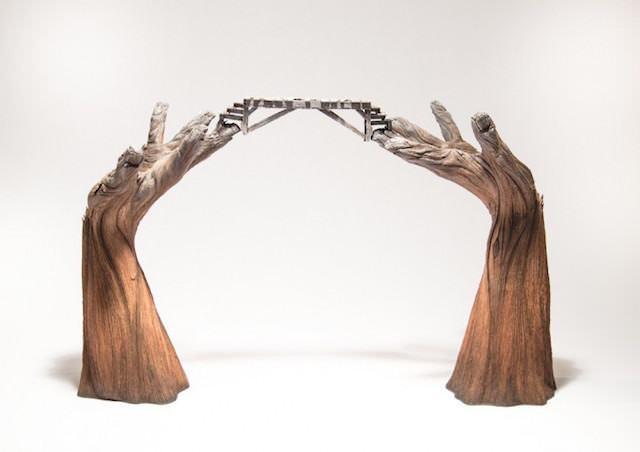 Ceramica que parece madera
