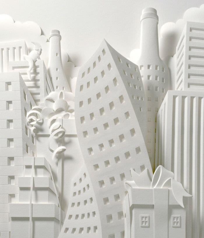 Esculturas en papel