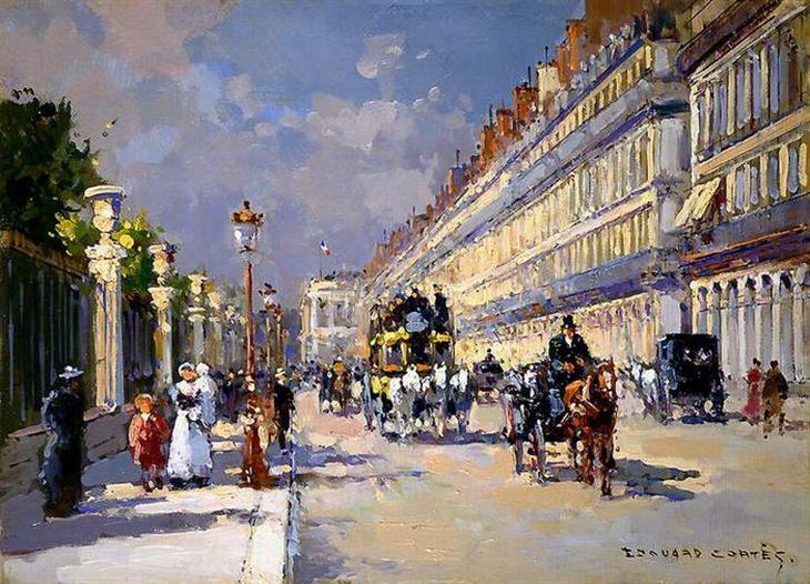 pinturas paris de Edouard Cortes
