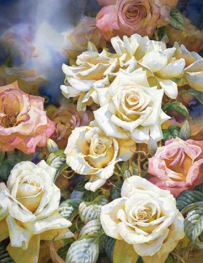 pinturas de flores de Darryl Trott
