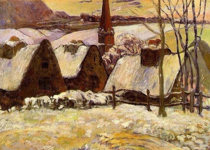 ¿Qué ves? Pueblo bretón en la nieve de Paul Gauguin (1894) B487b580-ef3c-4b7d-b2f6-f46cde41f399