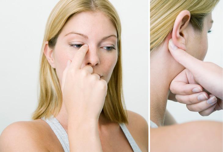 puntos presion nariz congestionada
