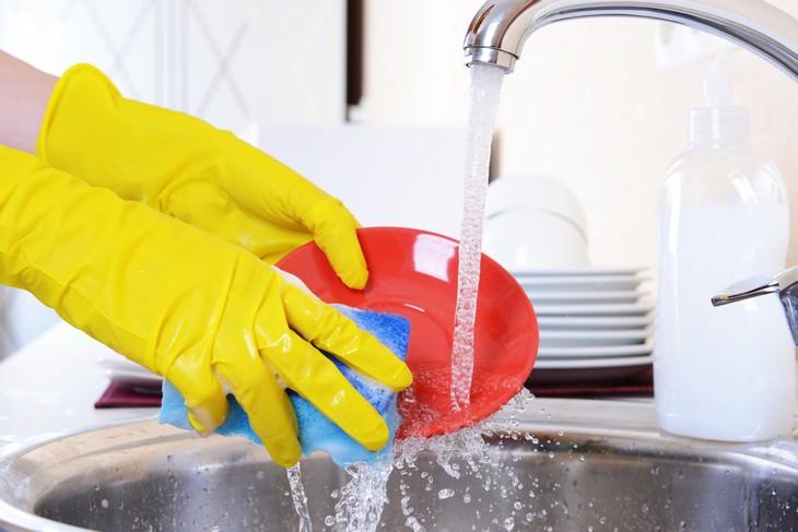 errores al lavar los platos