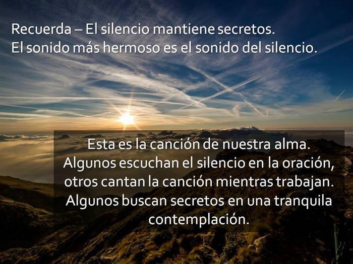 El Silencio Del Alma Nos Conecta Con El Creador