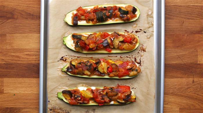 receta barcos de Ratatouille