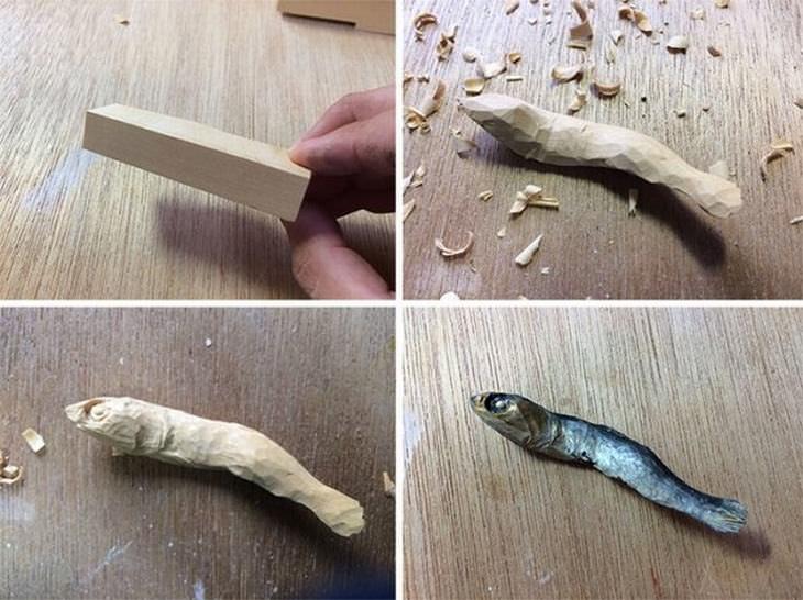 esculturas de comida