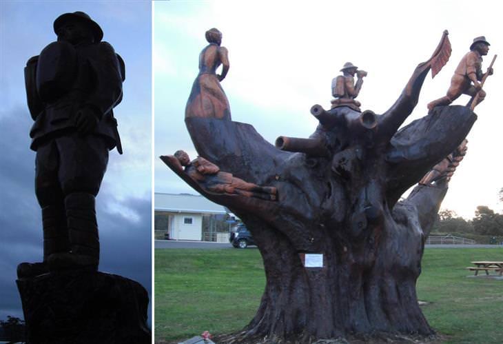 arte creado con árboles