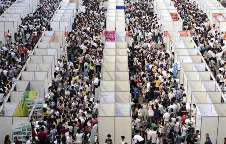 fotos china país superpoblado