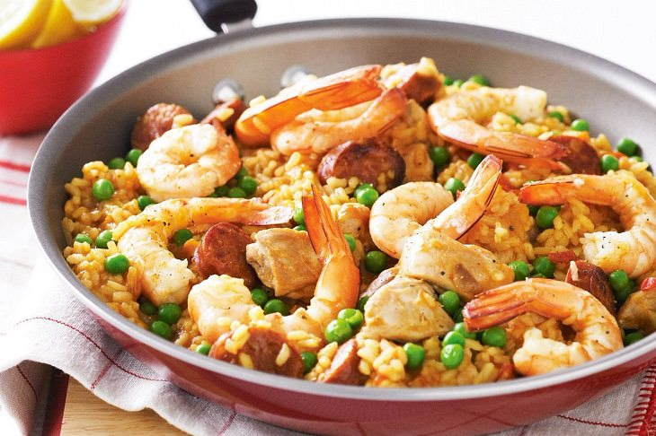 receta paella española