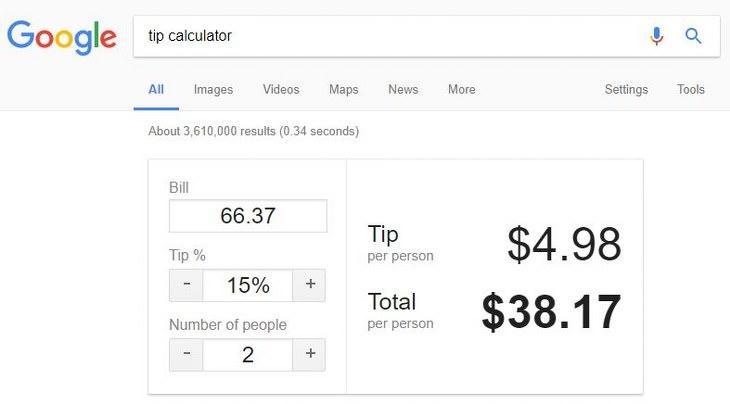 20 trucos google
