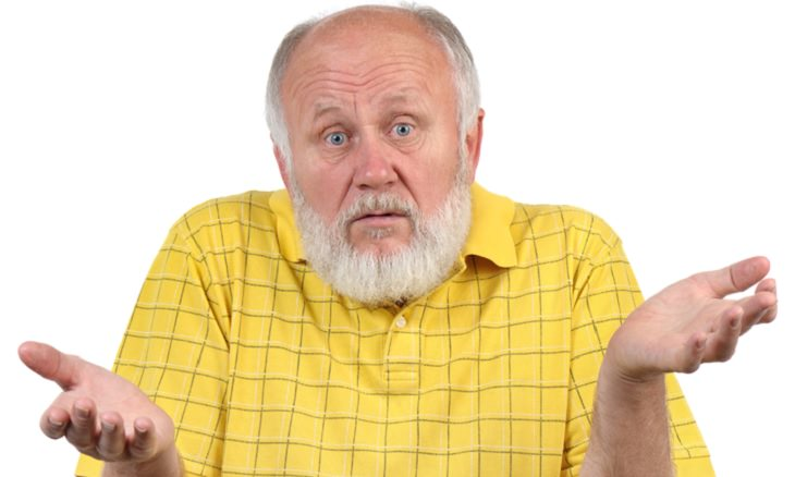 chiste anciano y ciclistas