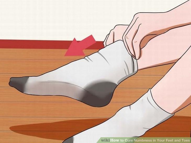entumecimiento de los pies