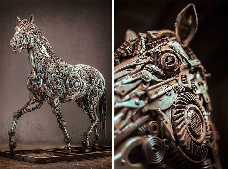 esculturas de chatarra