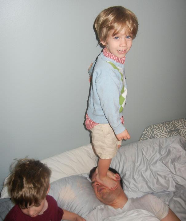 divertidas fotos padres