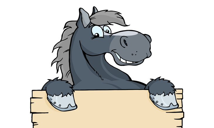 chiste dos caballos