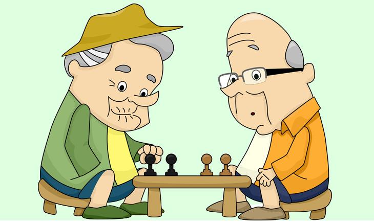 chiste, pan integral, amigos, viejos, ancianos