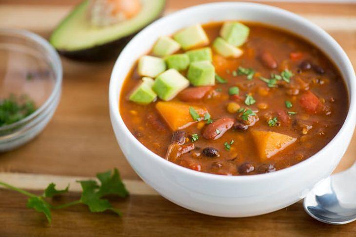 chile, receta, lentejas, vegano