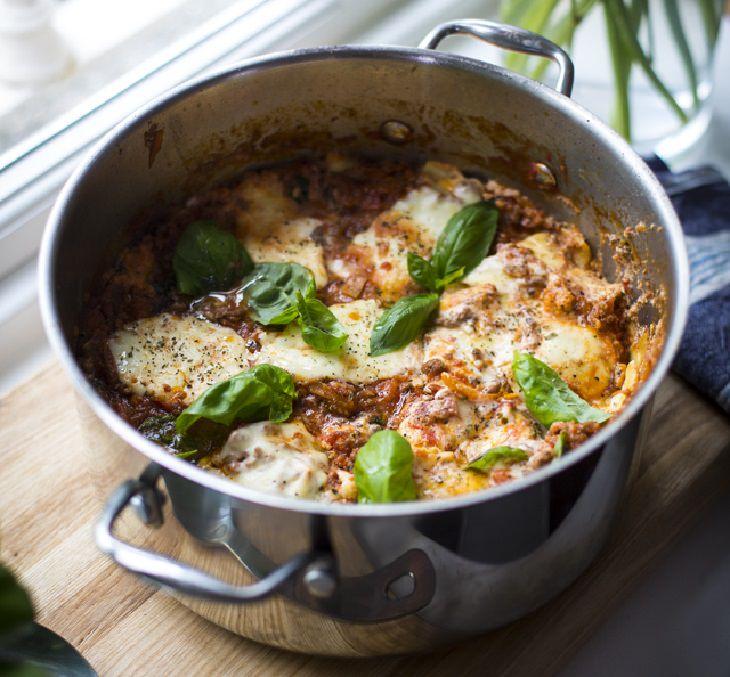 receta lasaña en cazuela
