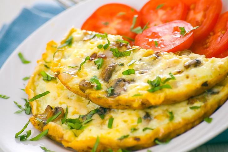 Omelette Perfecto Con Champiñones