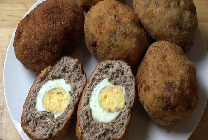 receta huevos a la escocesa