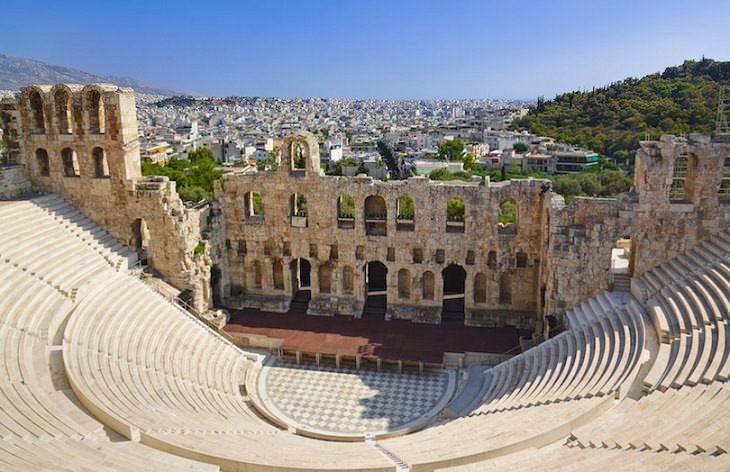 teatros griegos romanos visitar