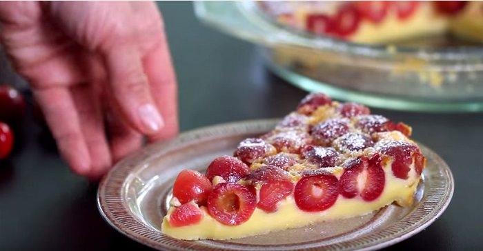 tarta de cerezas francesa