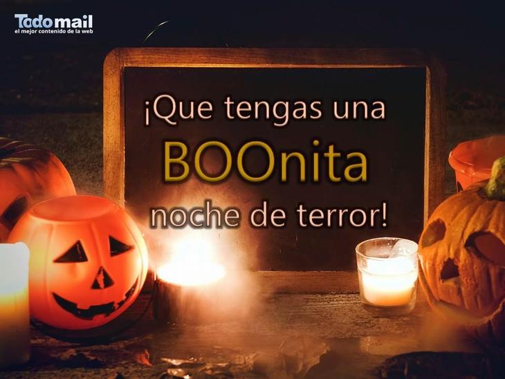 tarjetas de halloween bonita noche de terror