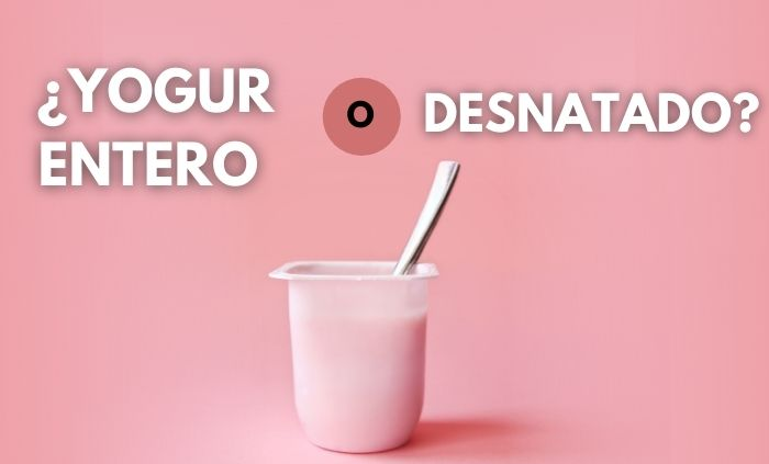 ¿Es el yogur entero menos saludable?