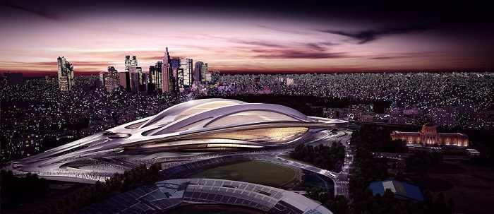 imágenes del estadio olímpico de Japón