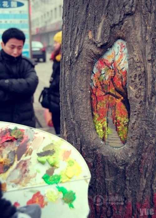 Arte en árboles