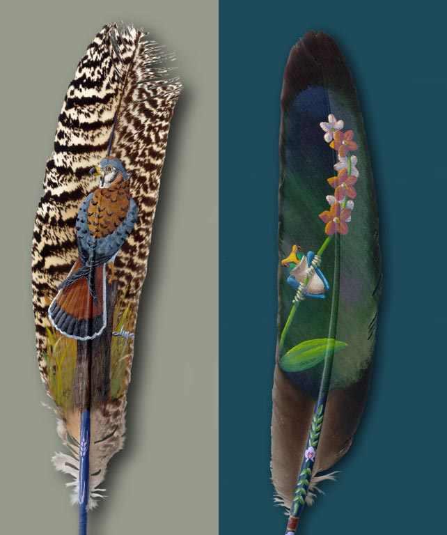 Arte en plumas