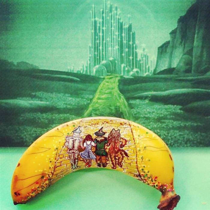 Arte en bananas