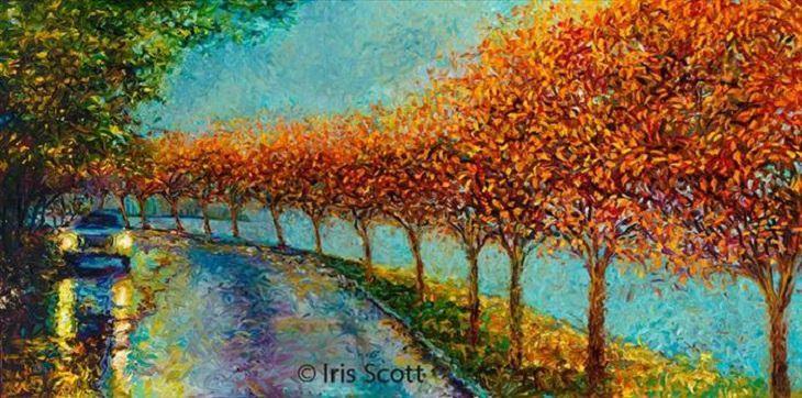 pinturas con dedos Iriss Scott