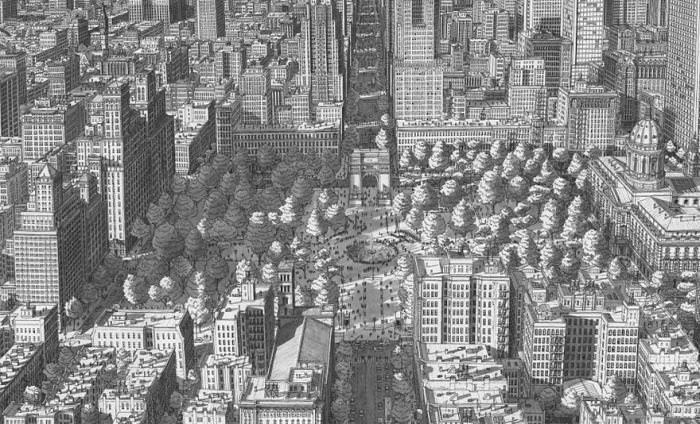 Impresionantes Paisaes Urbanos Dibujados Con Un Lápiz