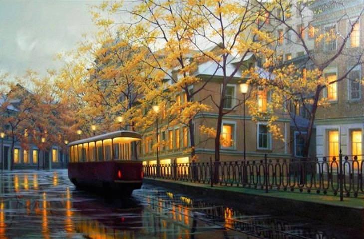 paisajes urbanos de  Alexey Butyrsky
