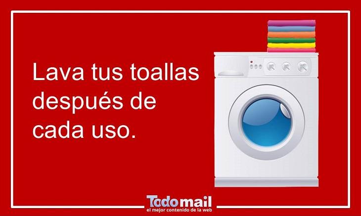 limpieza toallas baño