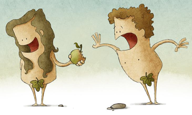 chiste Adán y Eva