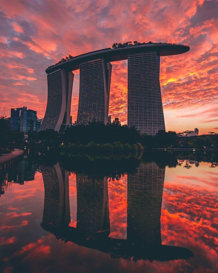 coloridas fotos de singapur